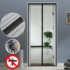 Homdox Hand Free Premium Mesh Retractable Magnetic Screen Door,Screen  Doors/Bug Mesh With Top To Bottom Seal,Full Length Frame Velcro Screen  Doors For Home